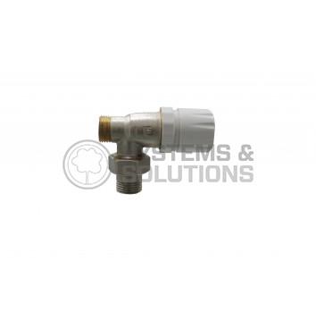 Ventilis termostatinis 1/2 išor.sr.,kampinis, Tiemme 3301N0404