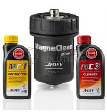 Rinkinys (ploviklis CLEANER MC3 500 ml + inhibitorius PROTECTOR MC1 500 ml + filtras MagnaClean Micro 2/1)