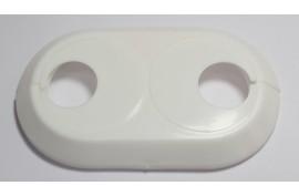 Apdailos gaubtas 28 dvigubas baltas plastikinis