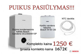 Dujinis kondensacinis katilas Bosch Condens GC2300iW15P+ W65 talpykla ir NTC jutiklis (7736900902KLP)
