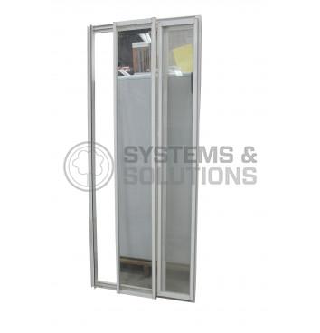 Sienelė dušui S PD 80 skaidrus stiklas