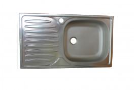 Nerūdijančio plieno plautuvė 760x435 mm, įleidžiama, matinė