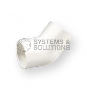 Alkūnė 45° PVC Kv 1/2 (šaltam vandeniui,Nibco)