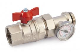 Ventilis trumpa rankena su termometru ir išardoma juntimi vid.-iš. 25 (raudonas)
