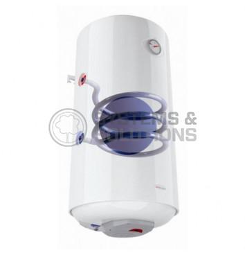 Vertikalus kombinuotas vandens ššildytuvas AQUA HOT, 80 ltr. (Kairinis)