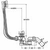 Sifonas voniai 40/50 (su reguliuojama perpylimo sistema, 45 ° išleidimo alkūne) Viega