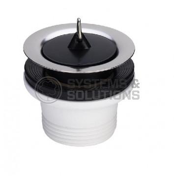 Išleidimo ventilis plautuvei 11/2x70 (su kamščiu,nerūdijančio plieno) Viega