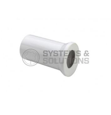 WC jungtis tiesi DN100x150 (balta)