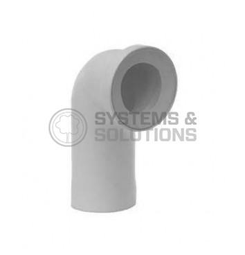 WC prijungimo alkūnė DN110/75 (balta)