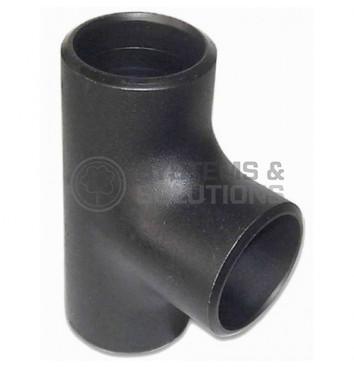 Trišakis plieninis  d25(33,4x3,3)besiūlis, juodas